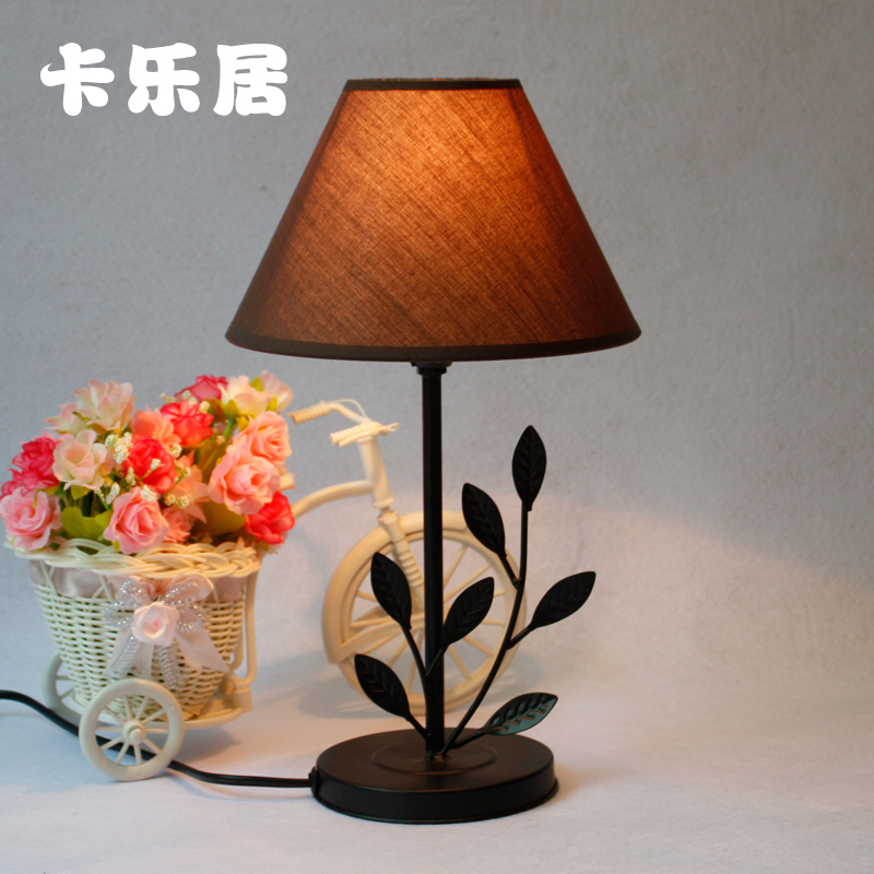 Black fashion ofhead dressing study lamp cloth cover black for Dressing table lamp lighting
