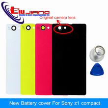 Buy Original New Battery door Back Housing Cover Sony xperia Z1 Compact Z1 mini Adhesive& Tools White/Black/Pink/Yellow for $3.24 in AliExpress store