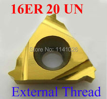 Buy 16ER 20 UN Carbide Threading Inserts External Threading Insert Indexable Lathe Inserts Threaded Lathe Holder for $24.41 in AliExpress store