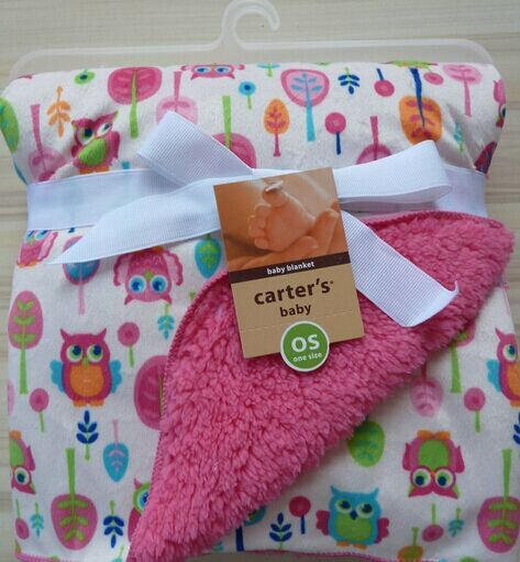 High quality plush baby blanket newborn swaddle wrap Super Soft baby nap receiving blanket animal owl free shipping <br><br>Aliexpress