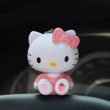 Sentado e Em Pé de bonito Dos Desenhos Animados KT Gato Boneca Olá Kitty Chaveiros Chave Anel Titular Sacos de Charme Diy Acessórios Brinquedos Chave cadeias(China)