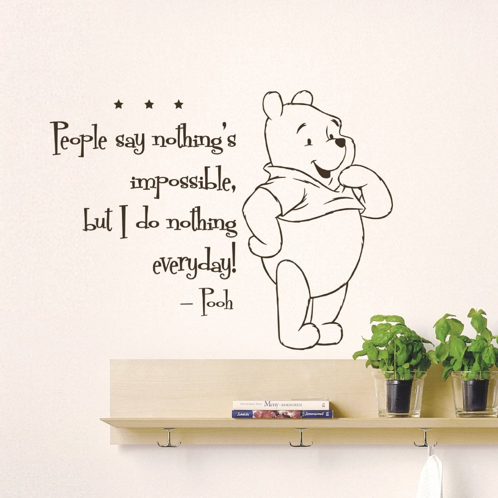 Buy The Pooh Creative DIY Cute Winnie Home Decoration Baby Quote Wall . Part 89