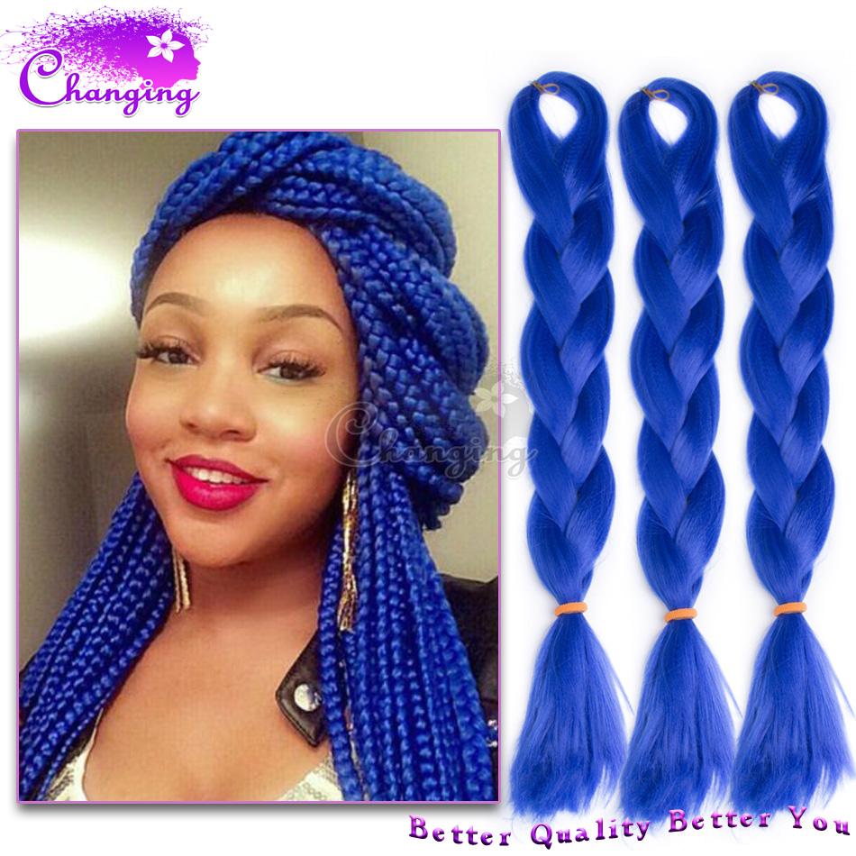 28 Grey Box Braids Jumbo Hair Extensions 24inch Kanekalon 3