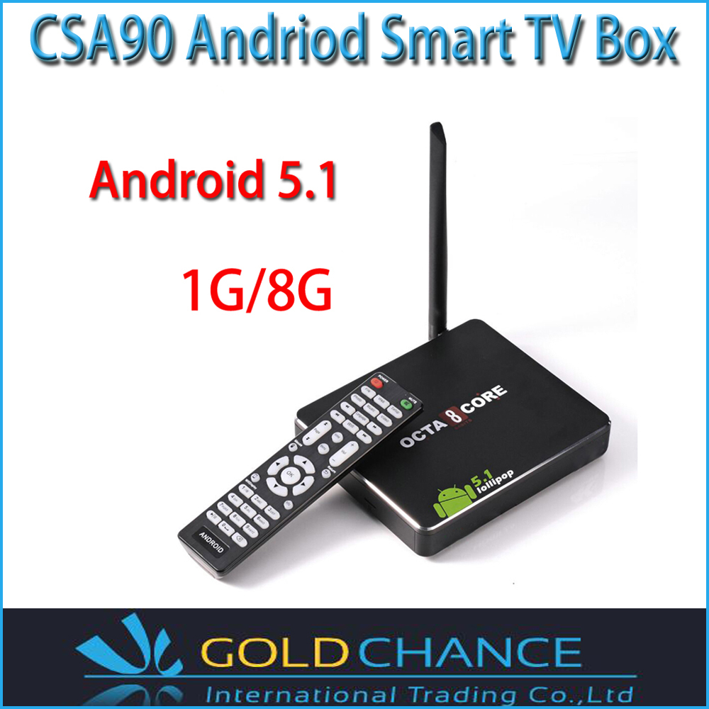 CSA90 Smart TV Box Android 5.1 RK3368 Cortex-A53 Octa Core 64bit 1GB+8GB/2GB+16GB Media Player HDMI Multi Language RemoteControl