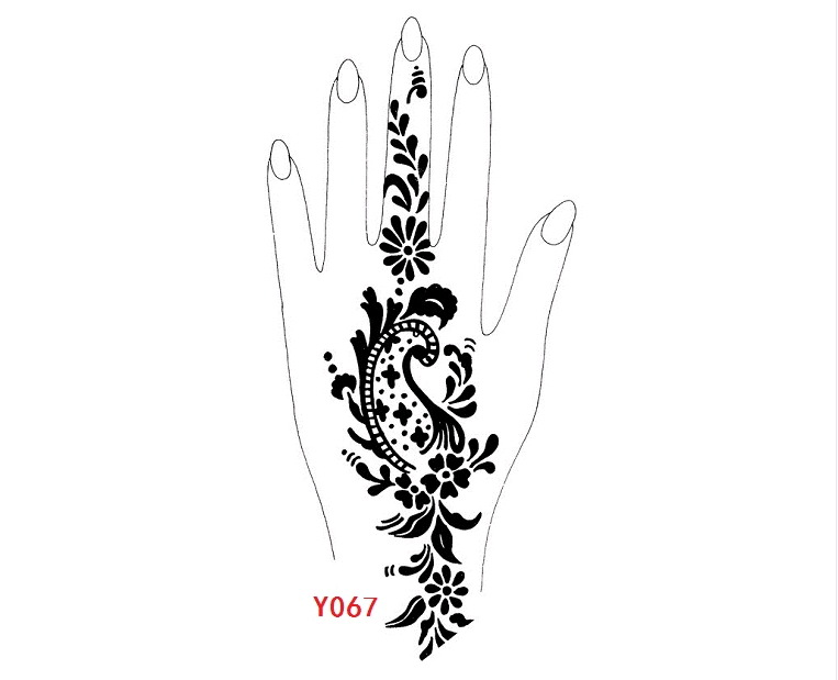 Professional hand-painted mexendi templates,stencils for tattoos,henna ...