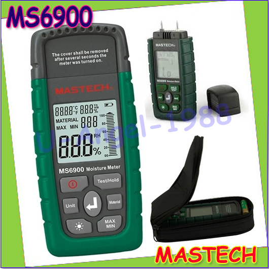 Wholesale 1pcs MASTECH MS6900 Portable Digital Timber Wood Moisture Meter LCD Hygrometer Temperature Humidity Meter Tester<br><br>Aliexpress