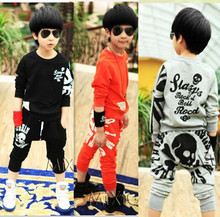 Cute Kids clothing set, Girls Boys Long Sleeve Shirts, Harlan Pants Unisex Sets, chirldren's suit free shipping(China (Mainland))