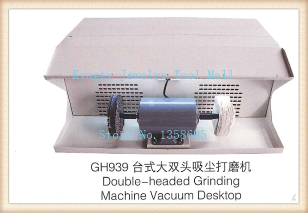 double head polishing machine jewelry table polisher buffing motor dust collector(China (Mainland))