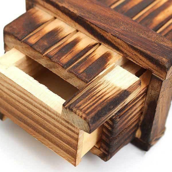Bartooville Mini Compartment Wooden Secret Toy Magic Puzzle Box(China (Mainland))