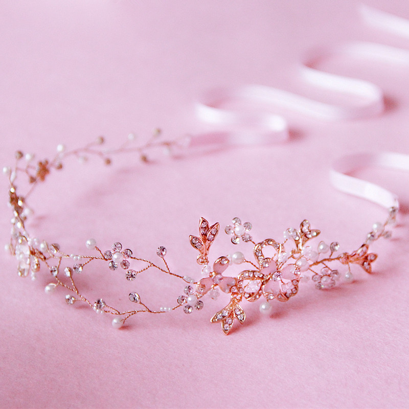 vintage gold crystal pearl headpiece wedding hair accessories bridal party jewelry headbands A217(China (Mainland))