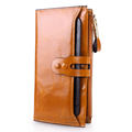 New style wallet women fashion brand European and American Style All match Cow Leather long Clutch