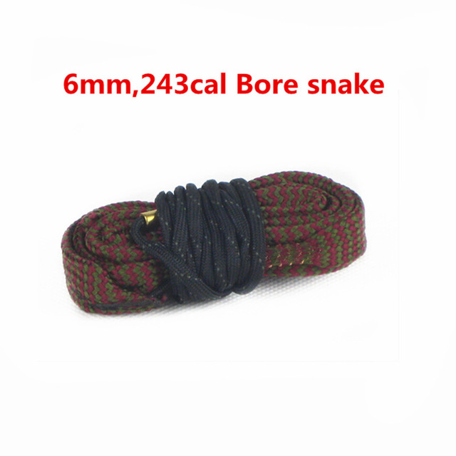 .243 Cal Carabina De 6mm Bore Snake Cleaning 6mm Boresnake Gun Rifle Shortgun Pistol Kit Airsoft Tactical Hunting Weapon Cleaner(China (Mainland))