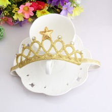New 2016 Spring and Summer Children Girls Hair Accessories Baby Hair Band Gold and silver Baby Crown Headband