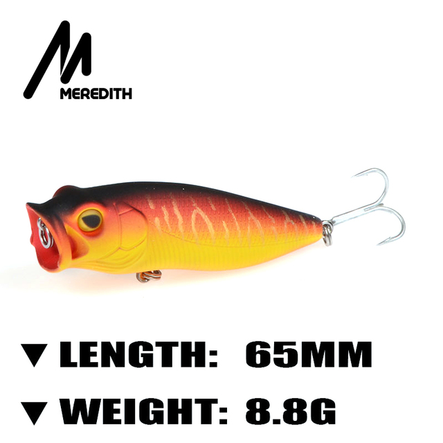 Meredith fishing 65mm popper lure fishing lure with for Lake meredith fishing report
