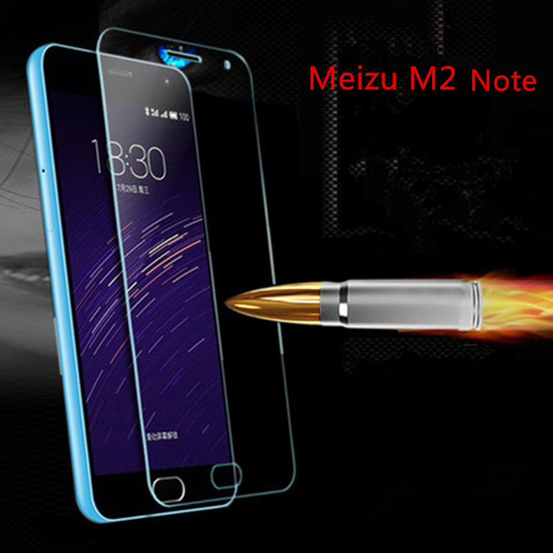 2016 For Meizu M2 Note Case Tempered Glass Film 9H UltraThin Real Premium Screen Protector Cover For Meizu M2Note(China (Mainland))