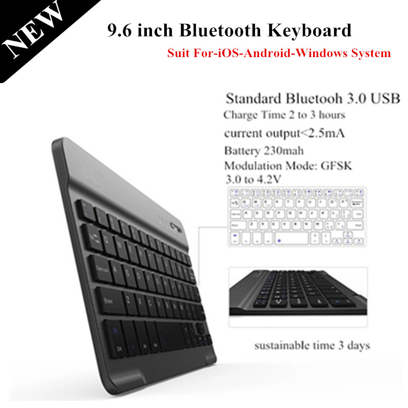 High Quality 9.6 inch Removable Wireless Bluetooth Keyboard For iOS Android Windows Tablet PC Bluetooh Keyboard(China (Mainland))