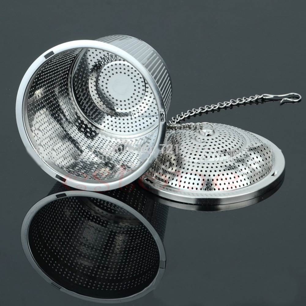 J34 Free Shipping Practical Tea Ball Strainer Mesh Infuser Filter 304 Stainless Steel Herbal New(China (Mainland))