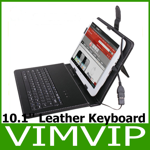 Free Shipping 10 inch Tablet  USB 2.0 Keyboard Leather Case for Tablet PC