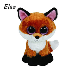 Original Ty Beanie Boos Big Eyes Plush Toy Doll Fox TY Baby Kids Gift 10-15 cm Stuffed Animals WJ159(China (Mainland))