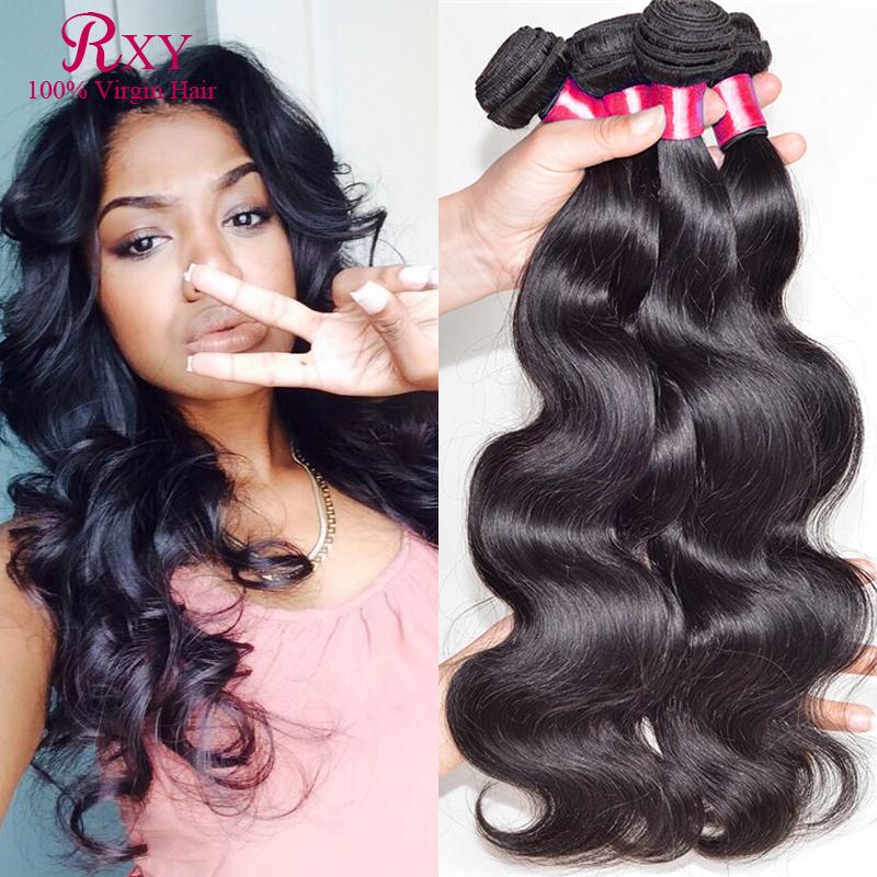 RXY grade 5a Indian Virgin  hair Body Wave 4pcs lot  cheap human hair bundles DHL free shipping wet and weavy hair<br><br>Aliexpress