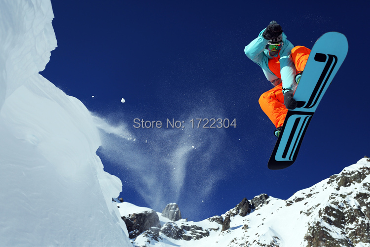 "Living Room HD Sticker Wall Decor mountain skiing wide 20"" x 30"" Large Poster Free Shipping(China (Mainland))"