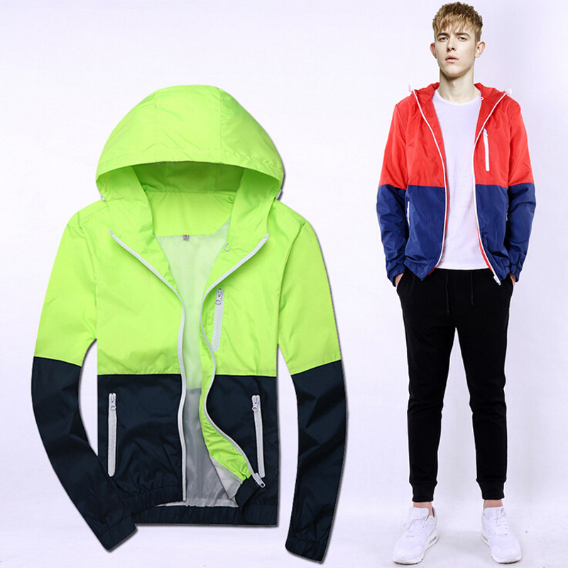 SALE!!! 2015 Autumn Lovers Color Block Jackets Thin Outerwear Sports Garment Casual Jacket Cardigan High Quality DropshippingОдежда и ак�е��уары<br><br><br>Aliexpress