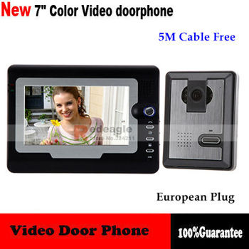 Wholesale Home 7 Inch Color TFT LCD Video Door phone Doorbell Intercom System Kit IR Camera