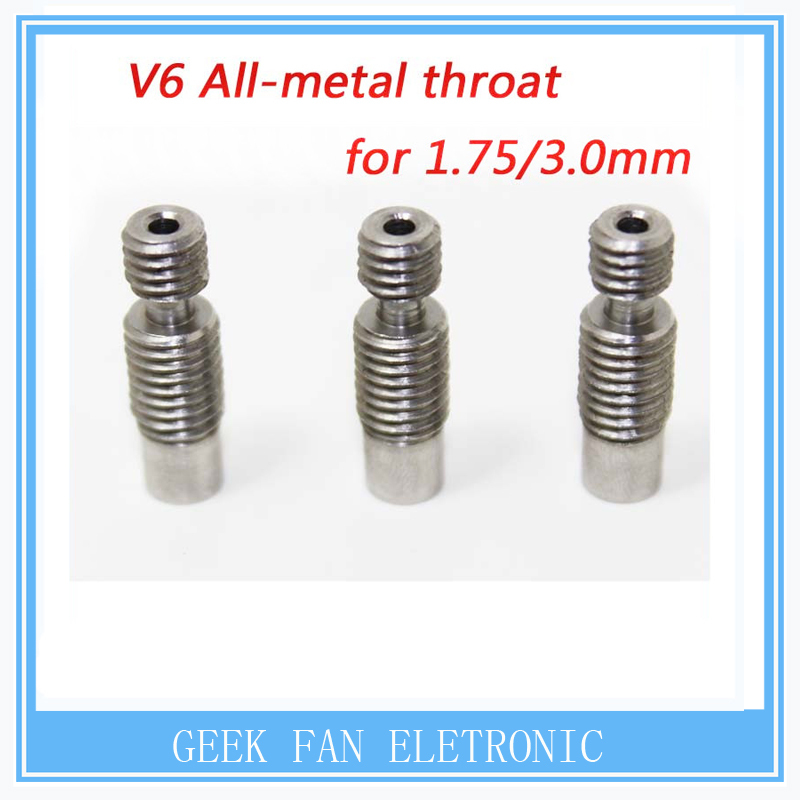 Stainless Steel E3D V6 Heat Break Hotend Throat for 1.75 mm 3.00mm Filament 3d Printer Free Shipping !<br><br>Aliexpress