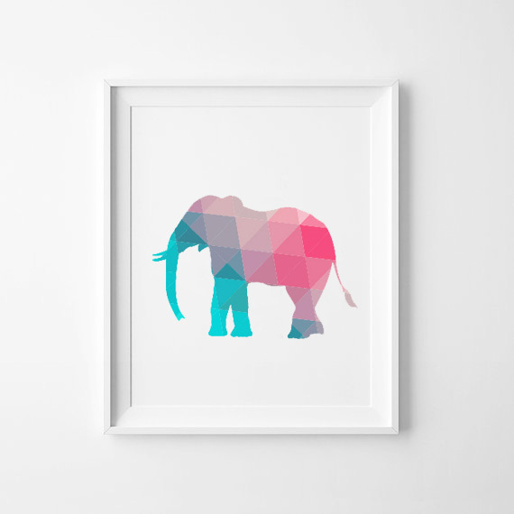 Colorful elephant canvas art print poster wall pictures for home decoration wall decor fa237 2 Colorful elephant home decor