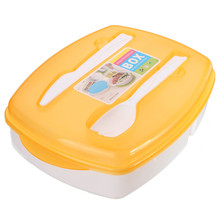 Lunch Box Food Grade PP Material Orange Lunch Box Container 3-compartment Bento Food Sealed Box(China (Mainland))