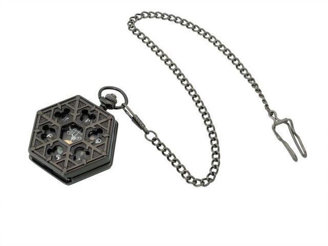 Classic Hexagonal Mechanical pocket watch Steampunk