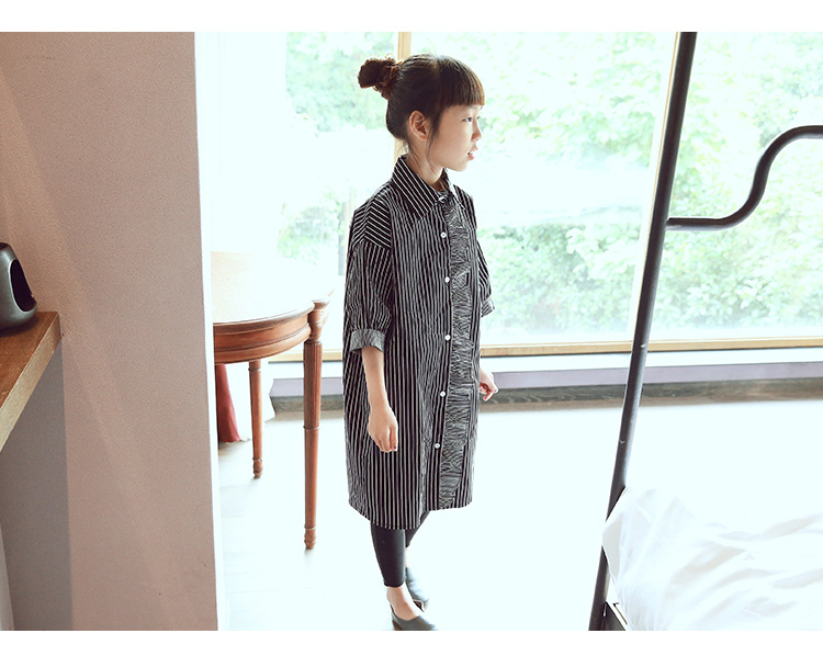 New 2016 Autumn Girls Stripe Blouse Children Fashion Long Style Blouse Kids Shirt Lotus Leaf Shirt Toddler Clothes,2-7Y