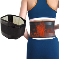 Waist Support Belt Adjustable Tourmaline Self-heating Magnetic Therapy Lumbar Brace Belts Thermal Protection Double Banded S-XL