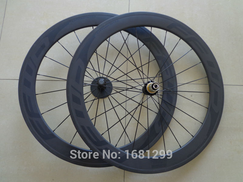 New black FFWD 700C 60mm clincher rims Road bike 3K UD 12K full carbon bicycle wheelsets aero spoke 20.5 23 25mm width Free ship(China (Mainland))