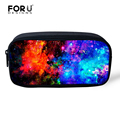 FORUDESIGNS Universe Space Galaxy Star Cosmetic Cases for Girls Boys Pencil Bags Children School Supplies Kids