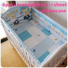Promotion! 6/Baby Crib Bedding Set Girl Boys Cartoon Horse Newborn Baby Bed Linen ,120*60/120*70cm - Products Store 1 store