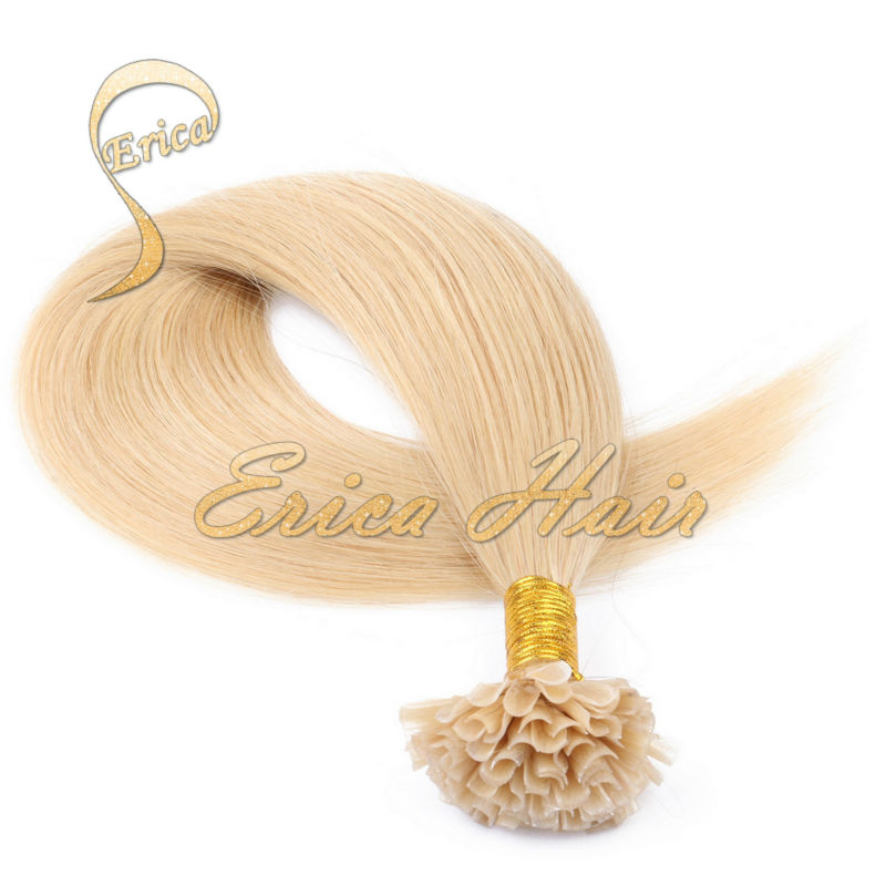 """Indian U Tip Hair Extensions 14""""-26"""" 50g Remy Human Hair 0.5g/strand Nail Tip Indian Hair Extension Free Shipping 28 colors(China (Mainland))"""