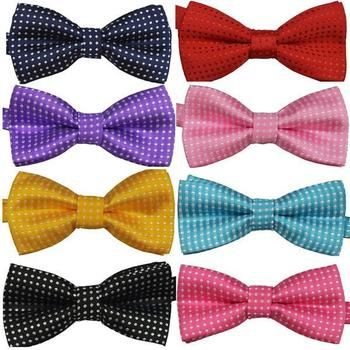 Factory Price! Polka Dots Kids Toddler Boys Girls Bowtie Pre Tied Bow Tie Necktie Multi-Colors