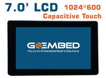 7 дюймовый ЖК-1024*600 Высокая дисплей емкостный сенсорный экран am335x imx6 SBC совета beagleboneblack(China (Mainland))