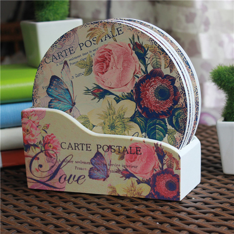 Creative gifts home decoration round 15cm 6pcs wood for Home decorations gifts