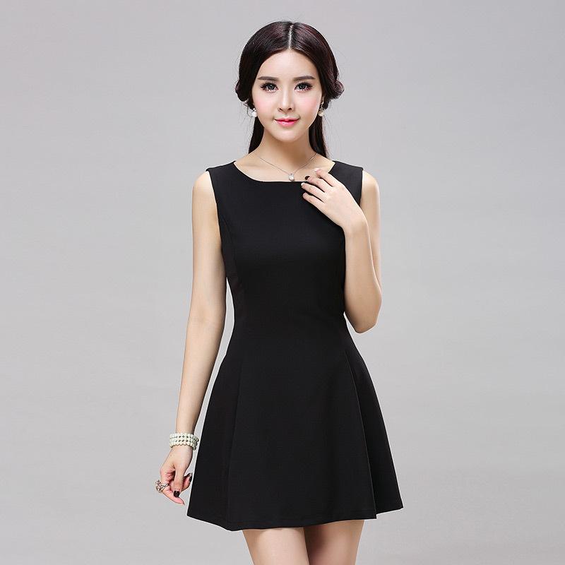 Petite Little Black Dress - Qi Dress