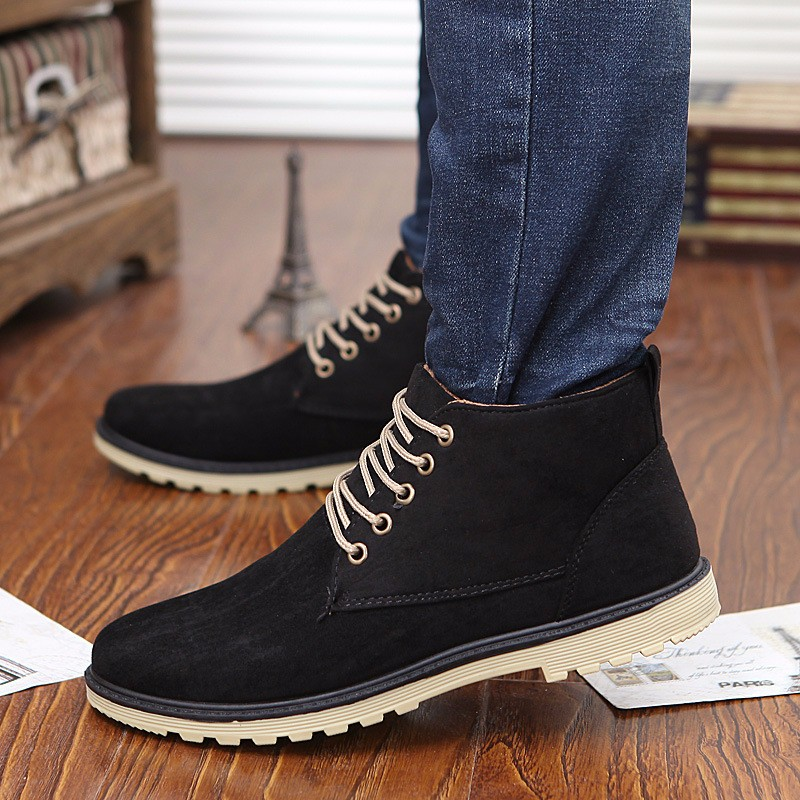 New 2016 Fashion Martin Boots Korean Style High Quality Men Boots Wear-resisting Casual Solid Ankle Boots