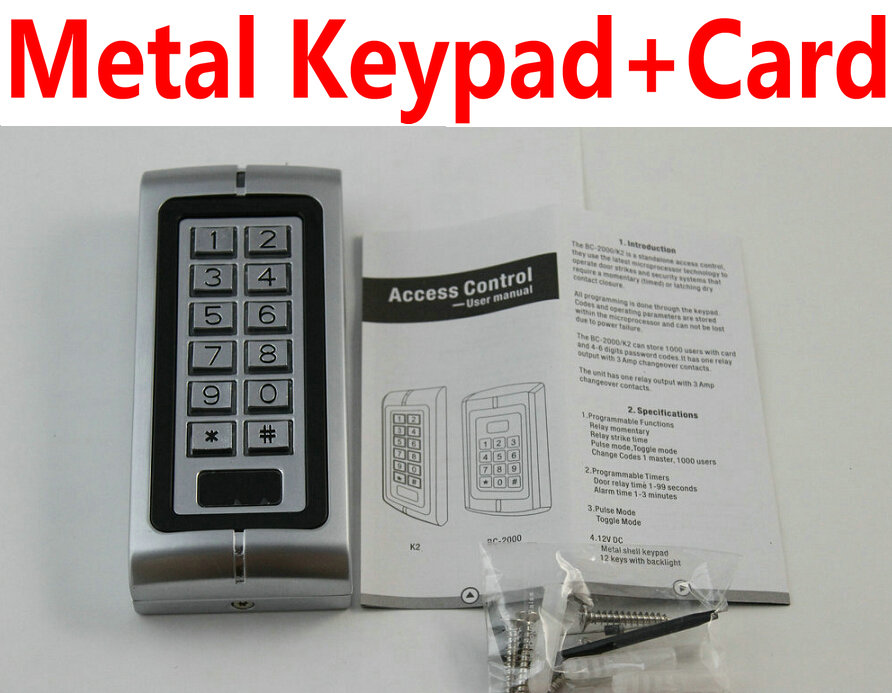 Hotsales RFID EM ID Card Access Control Card Reader with Keypad Standalone smart card access controller system access in/out<br><br>Aliexpress