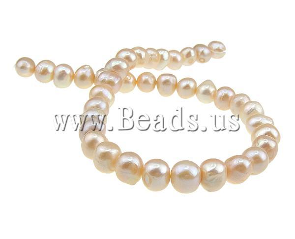 Free shipping!!!Potato Cultured Freshwater Pearl Beads,Tibetan Jewelry, natural, pink, 11-12mm, Hole:Approx 0.8mm