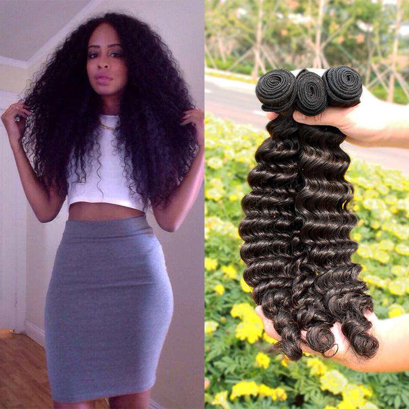 Brazilian virgin hair deep wave curly, new hair products 100% human hair Weaves 2pcs/a lot ,grade 5A, freeshipping<br><br>Aliexpress