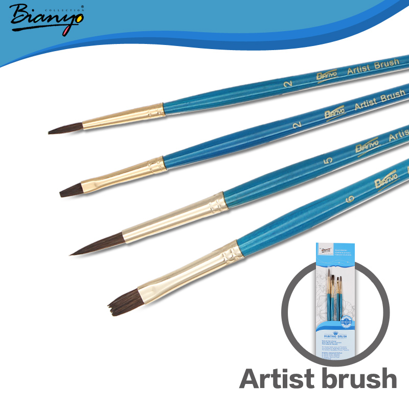 Bianyo 4 Pieces/Set Tip Pony Hair Aluminum Ferrules Paint Brushes for Artist Student Short Handle Watercolor Brush Free Shipping<br><br>Aliexpress