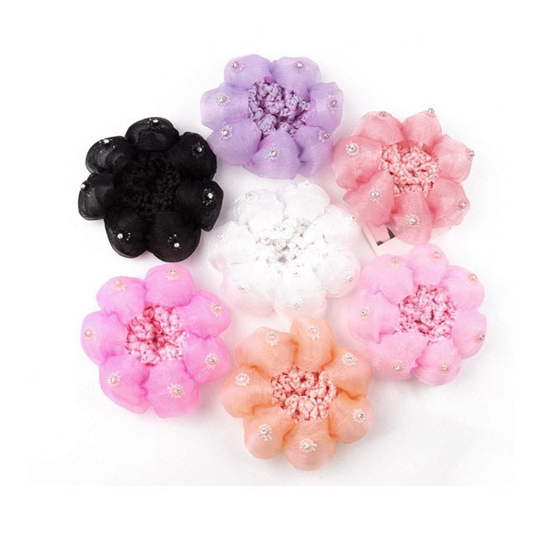 2016 Top Baby Child Dance Flower Balls Hair Net Involucres Large Hairnet Hair Accessories Beauty Tools(China (Mainland))