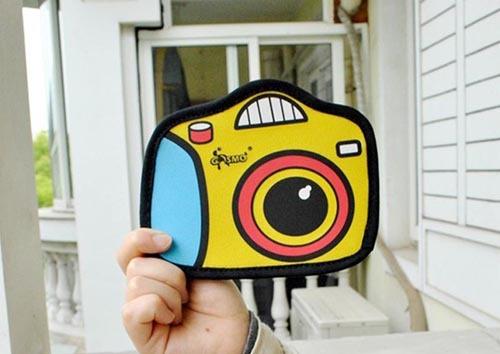 Новое поступление дизайн камеры кошелек девушку клатч комиксов 3D мультфильм мешок