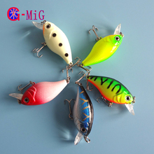 Buy MiG 5 Color / Box 7G 5CM Crank Bait Fishing Lure Hard Plastic Lure Artificial Bait Fishing Wobbler Fishing Tackle for $1.99 in AliExpress store