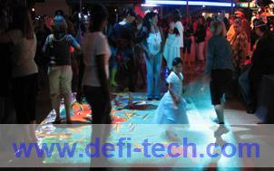 Interactive floor software and 111 effects and necessary hardware for advertising, event play games Corporate Events